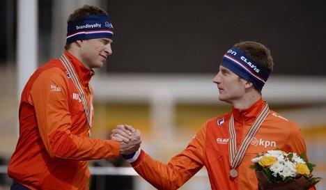 Свен Крамер и Эрик Ян Койман (слева направо)