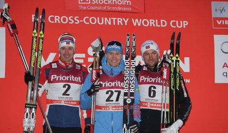 Ола Виген Хаттестад, Никита Крюков и Петтер Нортуг (слева направо)