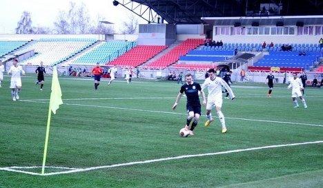Игровой момент матча КАМАЗ - Тюмень