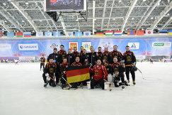Игроки сборной Германии по хоккею с мячом