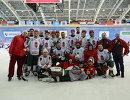 Игроки сборной Венгрии по хоккею с мячом
