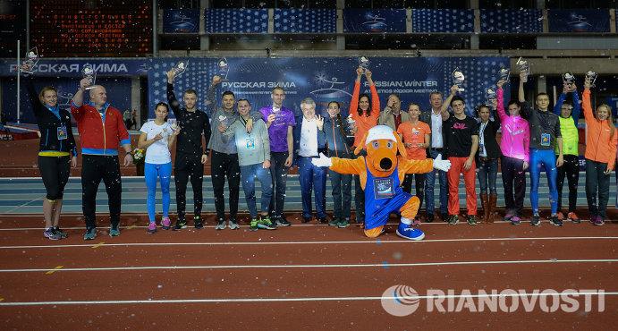 Победители соревнований легкоатлетического турнира Русская зима - 2016
