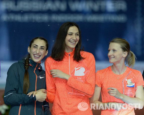 Екатерина Конева, Мария Кучина и Анжелика Сидорова (слева направо)