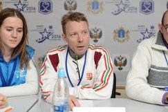 Главный тренер сборной Венгрии по хоккею с мячом Иштван Полгар