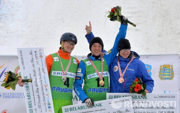 Максим Густик (Белоруссия), Кристофер Лиллис (США) и Илья Буров (Россия) (слева направо)