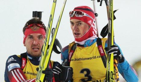 Антон Бабиков (Россия) и Евгений Гараничев (Россия) (справа налево)
