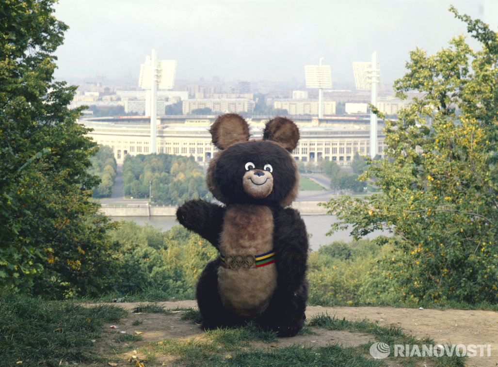 Мишка - талисман Олимпийских игр 1980 года