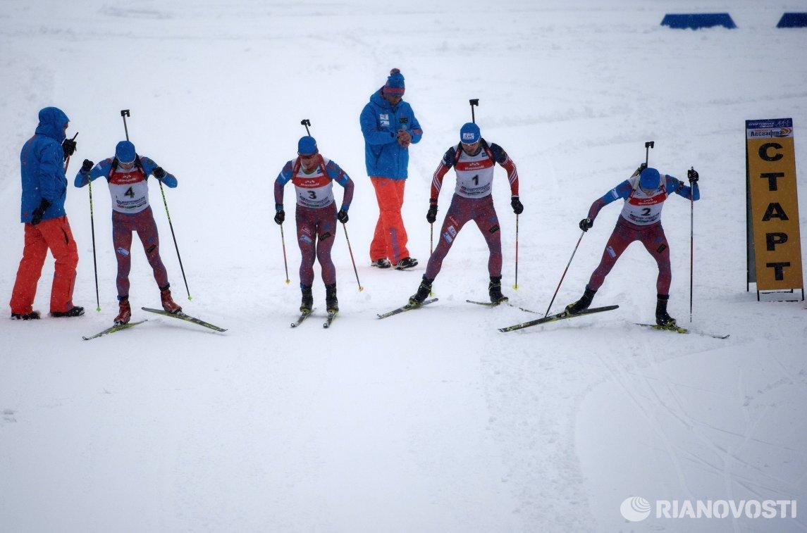 Алексей Волков, Дмитрий Малышко, Антон Шипулин и Максим Цветков (слева направо)