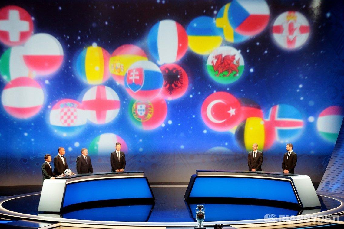 Церемония жеребьевки чемпионата Европы 2016