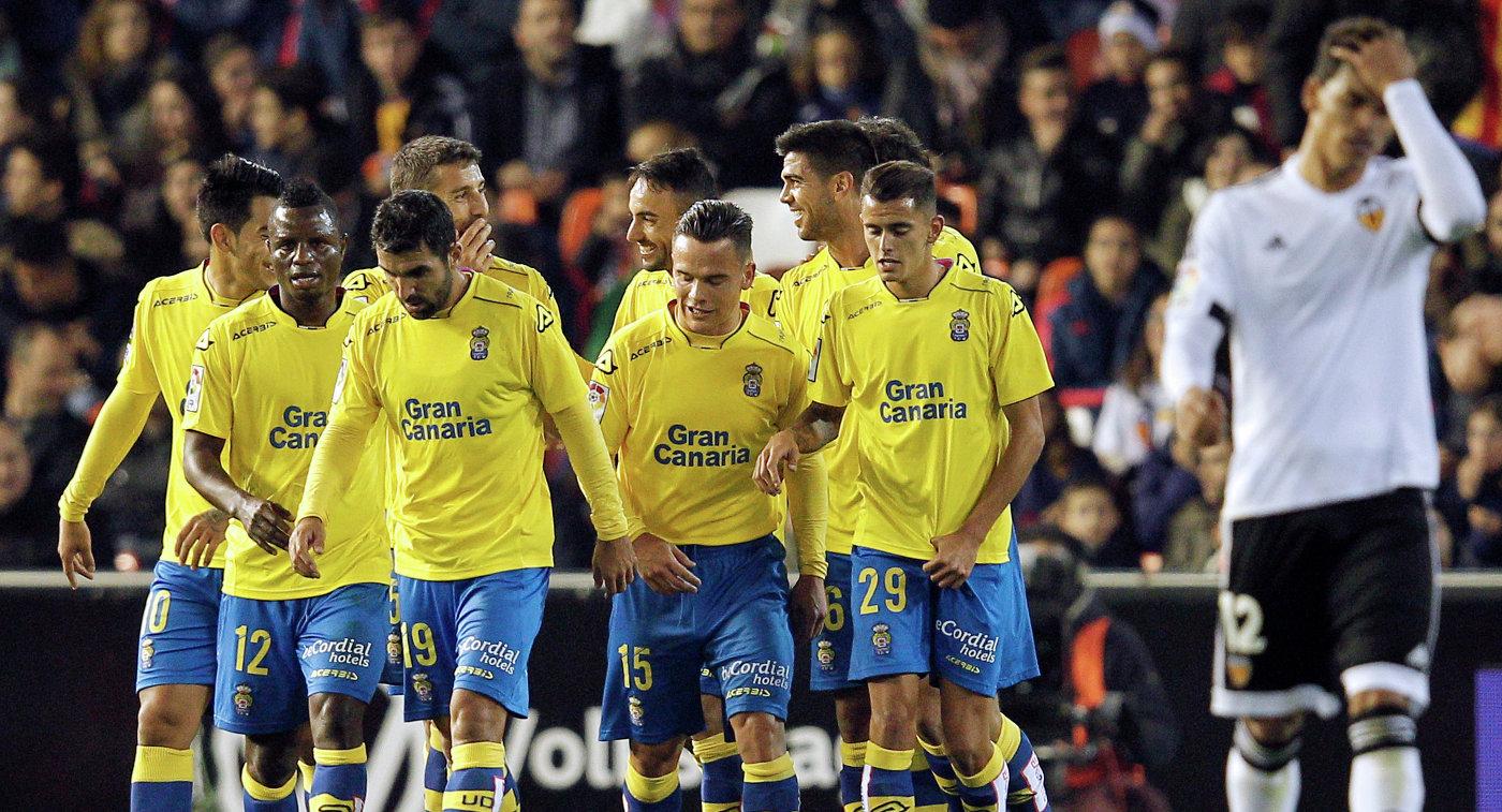 Футболисты испанского клуба Лас-Пальмас