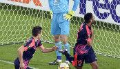 Игровой момент матча ЛЕ Бордо - Рубин