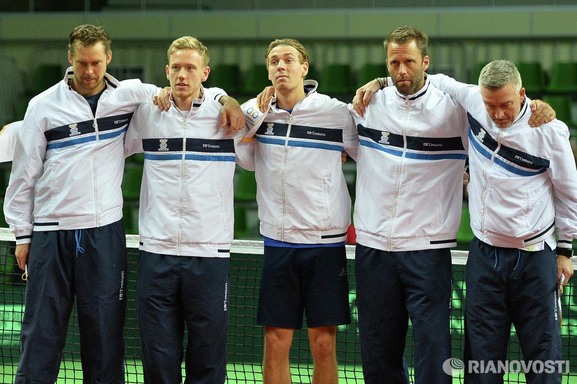 Йохан Брунстрём, Даниэль Виндаль, Айзек Арвидссон, Роберт Линдстедт (слева направо)