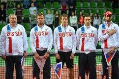 Шамиль Тарпищев, Теймураз Габашвили, Андрей Кузнецов, Евгений Донской и Константин Кравчук (слева направо)