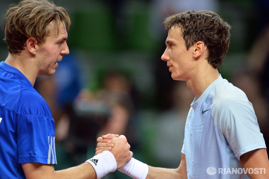 Айзек Арвидссон (Швеция) и Андрей Кузнецов (Россия) (слева направо)