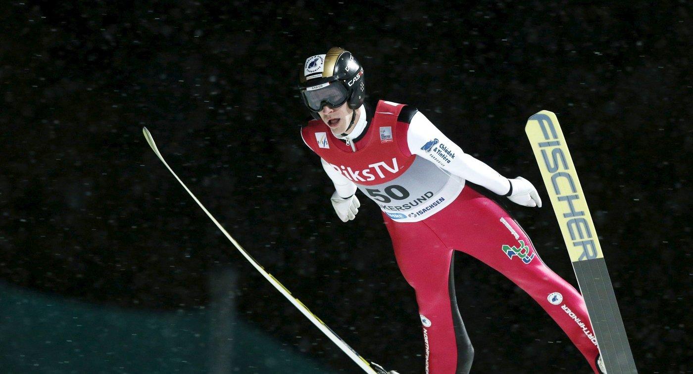 Чешский летающий лыжник Роман Куделка