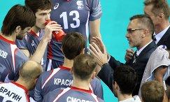 Старший тренер ВК Белогорье Вадим Хамутских (справа)