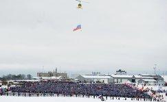 Участники всероссийской массовой гонки Лыжня России в Московской области