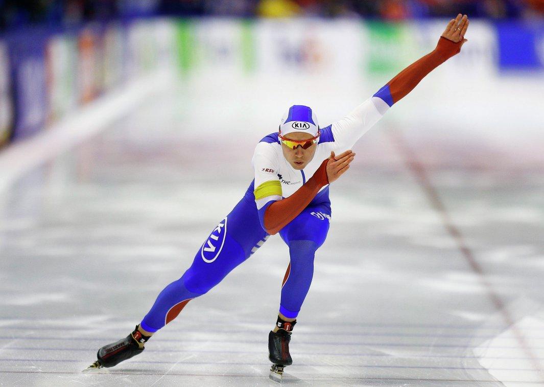 Павел Кулижников на этапе Кубка мира в Херенвене