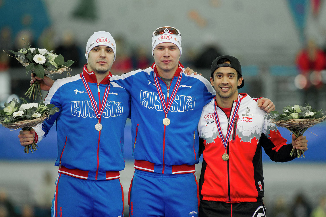 Руслан Мурашов, Павел Кулижников и Гилмор Джунио (слева направо)