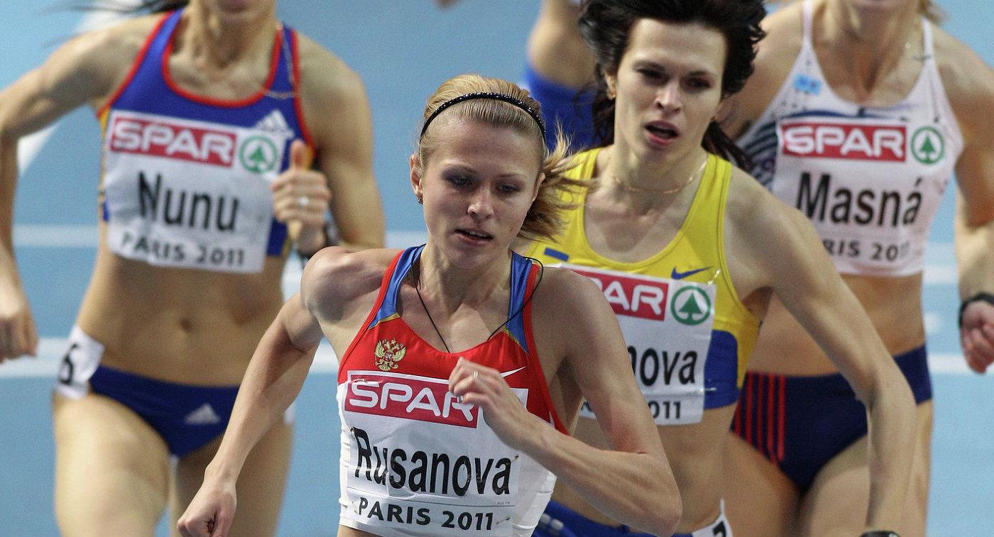 Юлия Степанова (на первом плане)