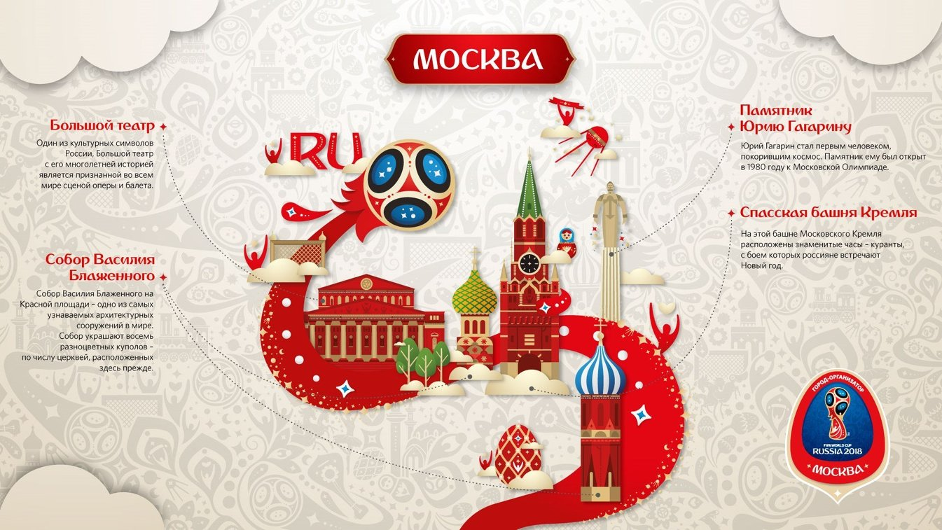 Фирменный стиль Москвы - города-организатора ЧМ-2018