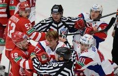 Конфликт в матче Витязь - Локомотив