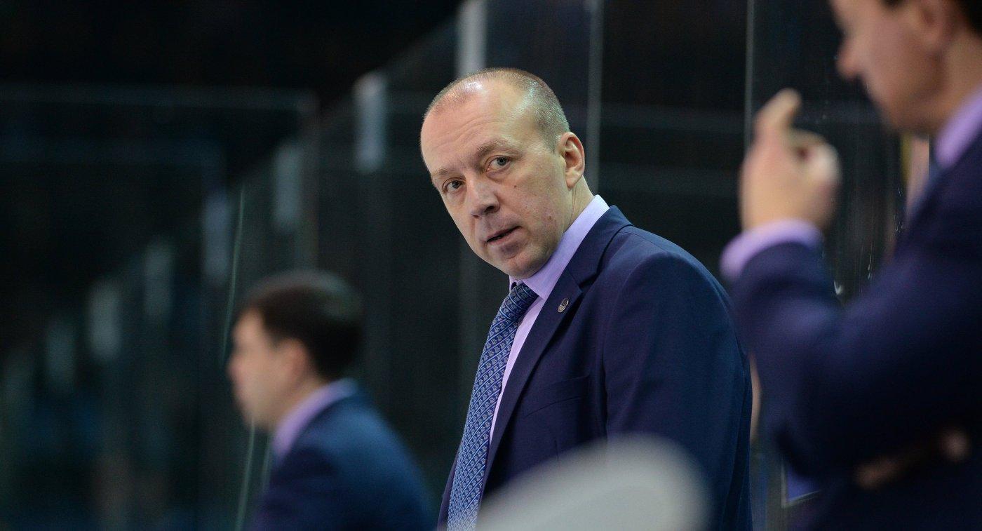 Главный тренер ХК Сибирь Андрей Скабелка