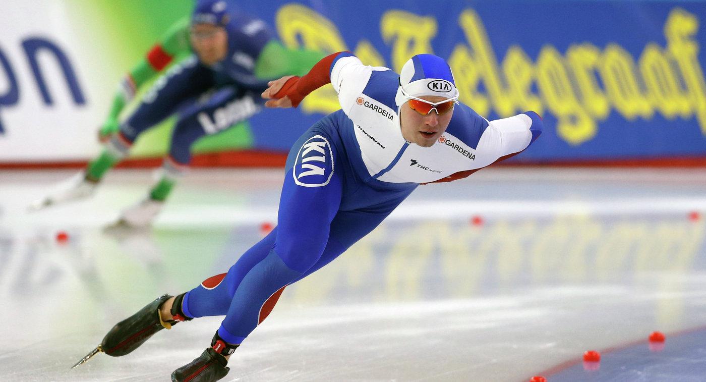 Кулижников установил рекорд катка вХеренвене, выиграв надистанции 1 000 м