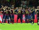 Игроки Барселоны радуются победе