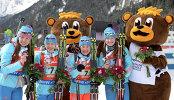 Екатерина Шумилова, Анастасия Загоруйко, Екатерина Юрлова и Ольга Подчуфарова (слева направо)