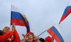 Российские болельщики на огневом рубеже