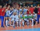 Игроки и тренеры женской сборной России по волейболу