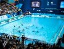 Игровой момент матча по водному поло между сборными Греции и России на ЧМ по водным видам спорта в Казани