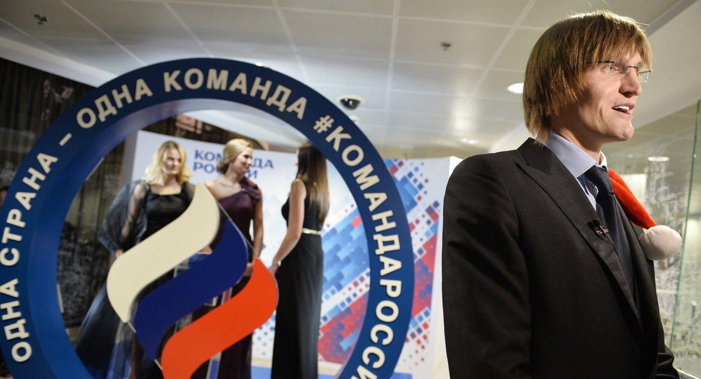 Президент Российской федерации баскетбола Андрей Кириленко на Балу олимпийцев России – 2015 в Москве
