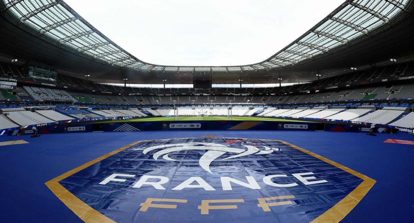 Вид на стадион Стад де Франс в преддверии матча сборных Франции и России