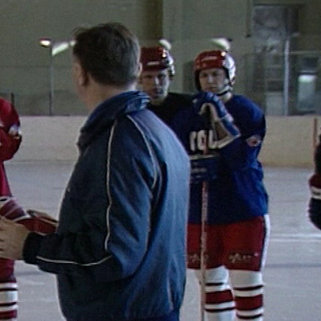 Тренировка Фетисова и Красной Машины перед ЧМ-1989 по хоккею