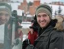 Хоккеисты Трактора навестили живой талисман команды - белого медведя Алтын