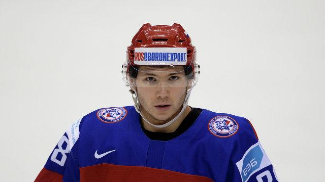 Нападающий молодежной сборной России Сергей Толчинский