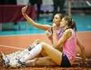 Волейболистки краснодарского Динамо Анастасия Самойленко (слева) и Екатерина Ефимова
