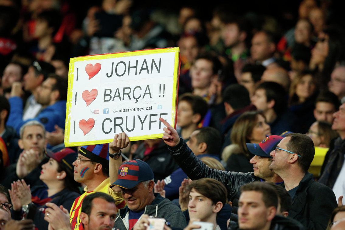 Плакат на матче Барселона - Реал