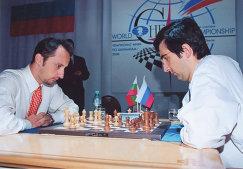 Веселин Топалов и Владимир Крамник (слева направо)
