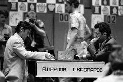 Анатолий Карпов и Гарри Каспаров (слева направо)