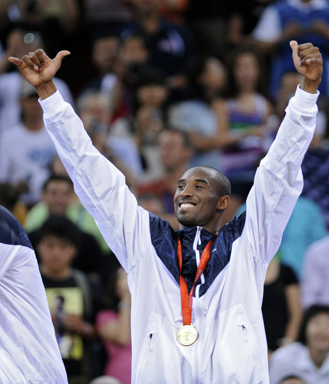 Защитник сборной США по баскетболу Кобе Брайант