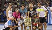 Звезды тенниса на детском дне Australian Open