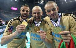 Волейболисты казанского Зенита Теодор Салпаров, Алексей Вербов и Владислав Бабичев (слева направо)