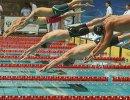 Спортсмены на дистанции 100 метров вольным стилем