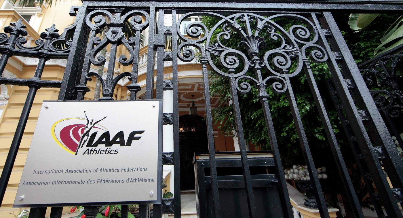Логотип Международной ассоциации легкоатлетических федераций (IAAF)