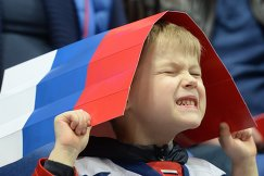 Юный болельщик сборной России по хоккею