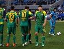 Футболисты Кубани Фелипе Сантана, Максим Майрович, Евгений Селезнев, Арсен Хубулов и нападающий Зенита Халк (слева направо)