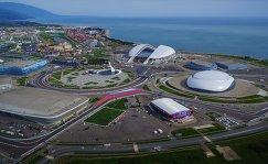 """Вид на Олимпийский парк и """"Сочи Автодром"""""""